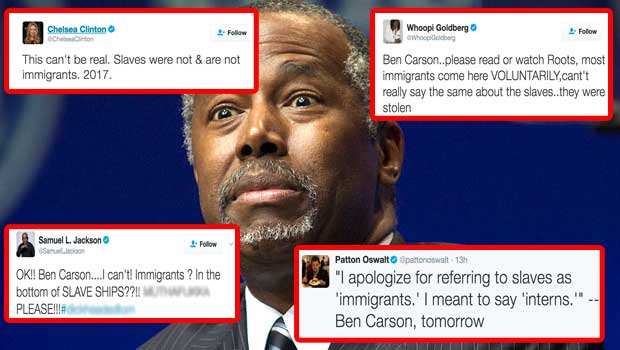 Ben Carson Said Slaves Were Immigrants, and Twitter Unloaded on Him - Your Daily Dish