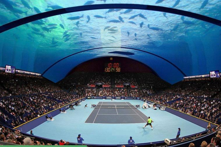 Architect's Designs for Proposed Underwater Tennis Court Look Unreal