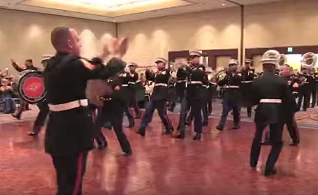 watch these marines celebrate 238th corps birthday with awesome