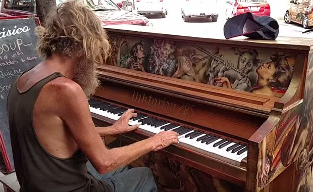 Homeless Man Sat Down At A Piano  When He Started To Play