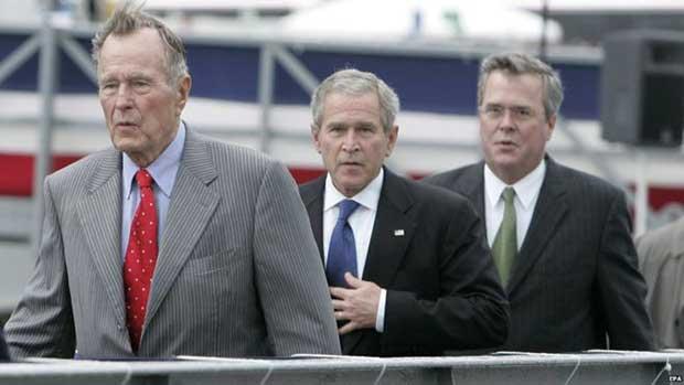 Former Presidents George H W Bush And George W Bush Will