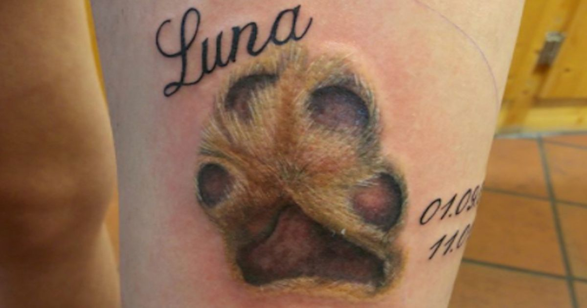 Dog Owners Are Getting Tattoos Of Their Dogs Paw Prints