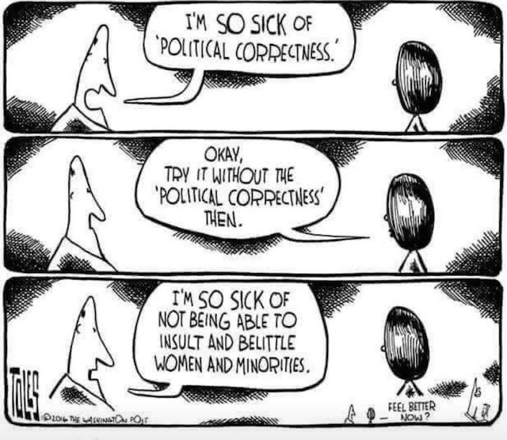 Complaining About Too Much Political Correctness